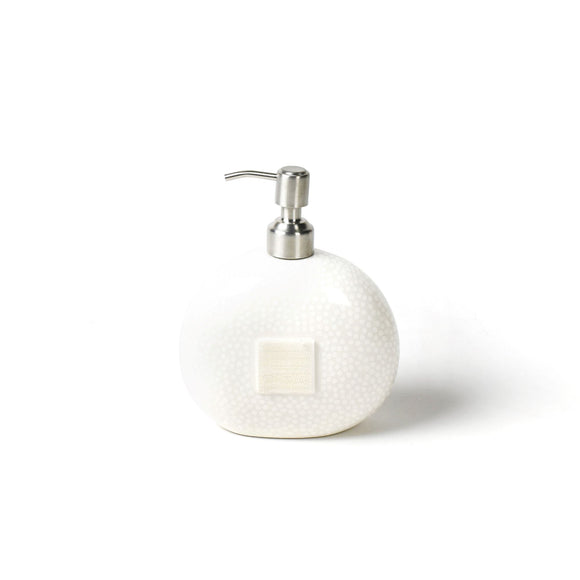 BOGO 50% Off:  White Small Dot Happy Everything Mini Soap Pumps