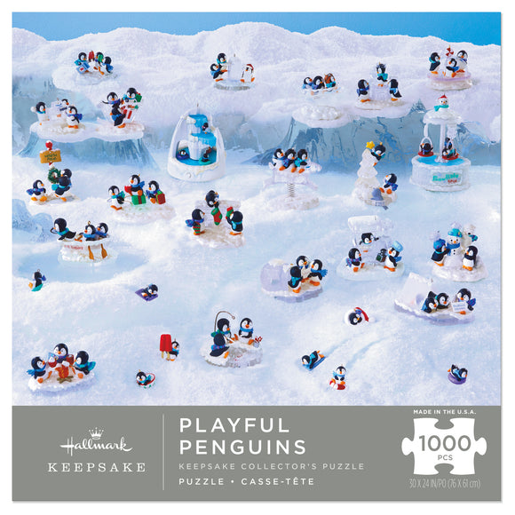 Hallmark Playful Penguins Hallmark Keepsake Ornaments 1,000-Piece Puzzle