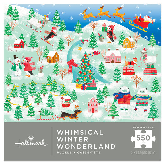 Hallmark Whimsical Winter Wonderland 550-Piece Jigsaw Puzzle