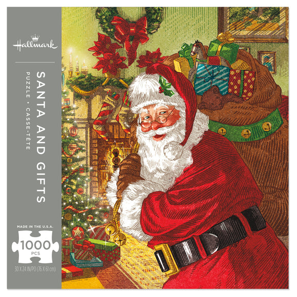Hallmark Santa and Gifts 1,000-Piece Puzzle