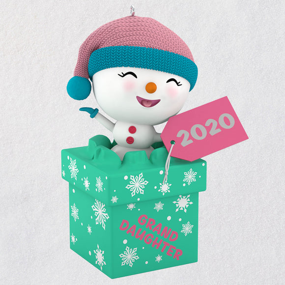 Hallmark The Gift of Granddaughters Snowman 2020 Ornament