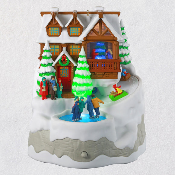 Hallmark Christmas Cabin Musical Ornament With Light and Motion
