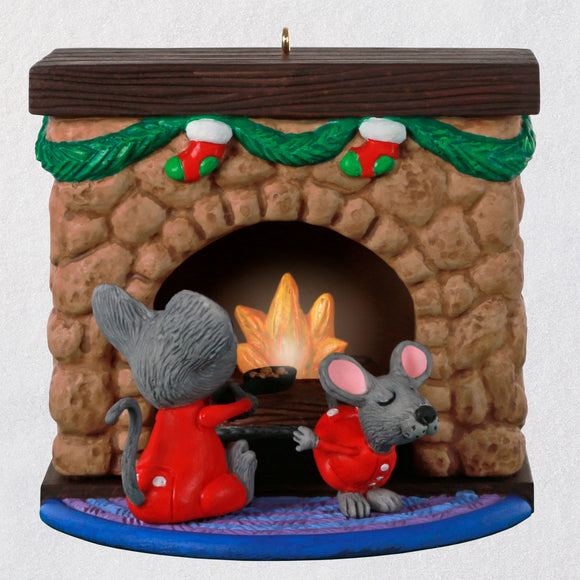 Hallmark Merry Mice Fireplace Musical Ornament With Light