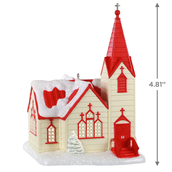 Hallmark Come In and Rest Church Ornament