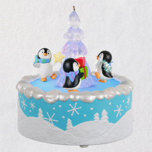 Hallmark Playful Penguins Musical Ornament With Light and Motion