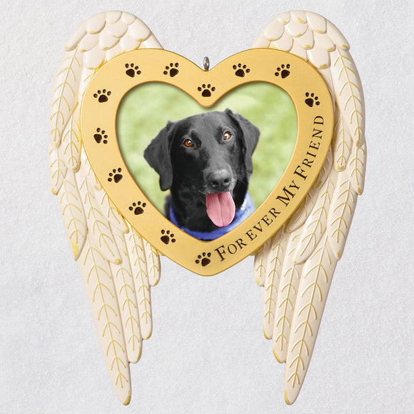 Hallmark Forever My Friend Pet Memorial Metal Photo Frame Ornament