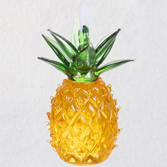 Hallmark Sweet Welcome Pineapple Glass Ornament