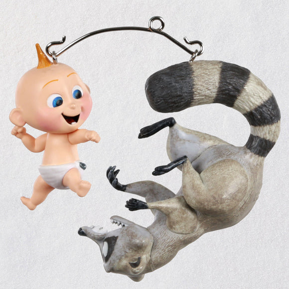 Hallmark Disney/Pixar Incredibles 2 Jack-Jack vs. Raccoon Ornaments, Set of 2