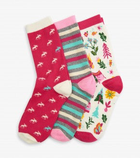 Glamping Women's Crew Sock Set of 3