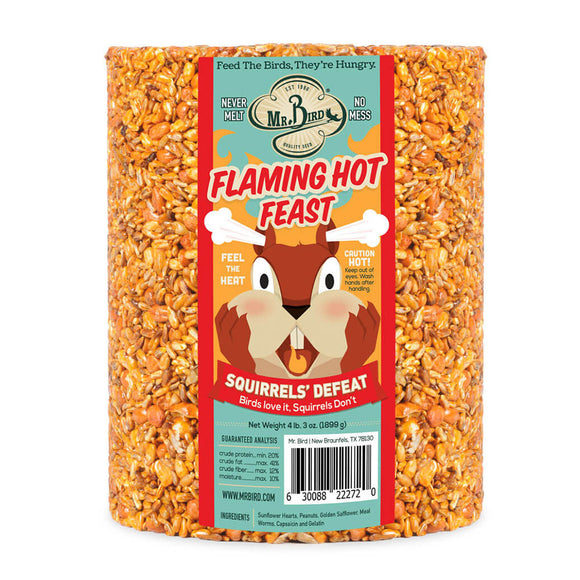 Flaming Hot Feast Cylinder Large Birdseed