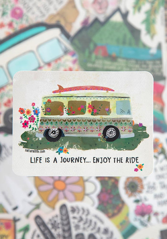 Life Is A Journey ...Enjoy The Ride Vinyl Sticker