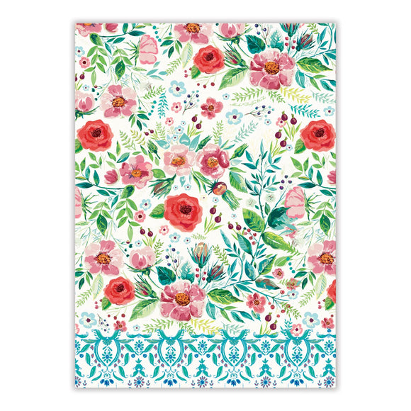 Wild Berry Blossom Kitchen Towel