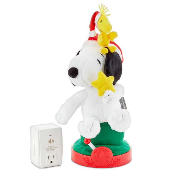 Hallmark Peanuts® Snoopy Musical Christmas Tree-Lighting Plush