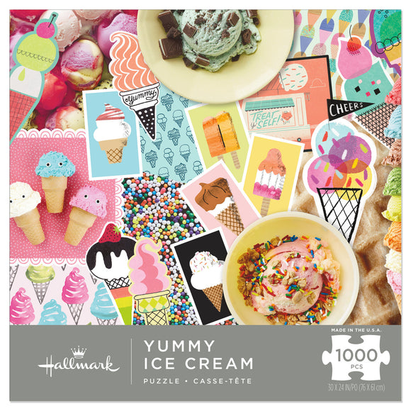 Hallmark Yummy Ice Cream 1000-Piece Puzzle