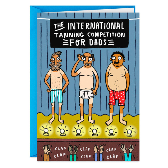 Hallmark International Tanning Competition Funny Father's Day Card