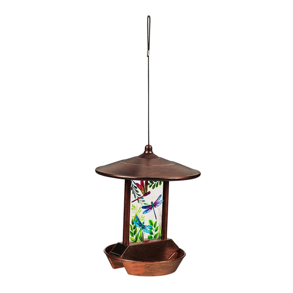 Garden of Dragonflies Solar Bird Feeder