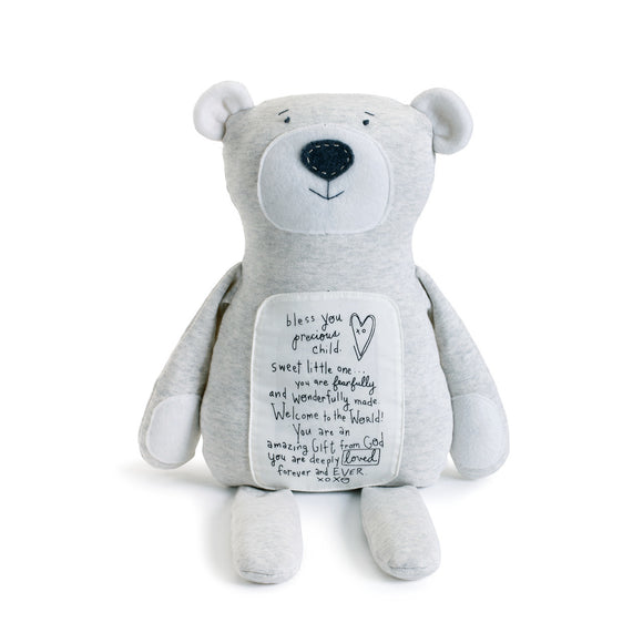 Poetic Threads Bear - Blue