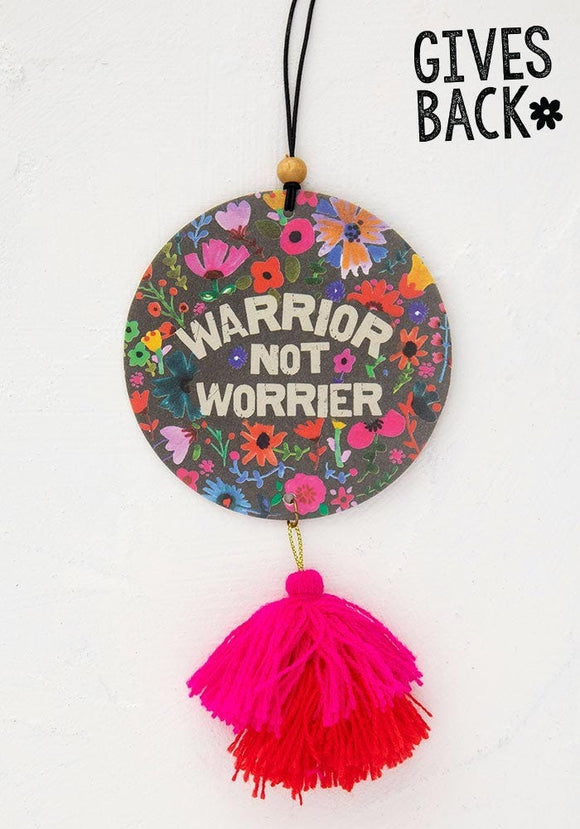 Warrior Not Worrier Air Freshener