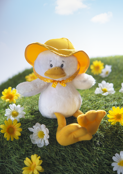 Duncan Duck with Rain Hat