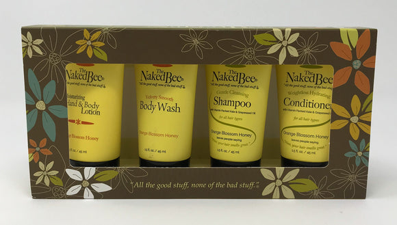 The Naked Bee Orange Blossom Honey Travel Kit