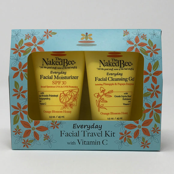 The Naked Bee Everyday Facial Travel Kit