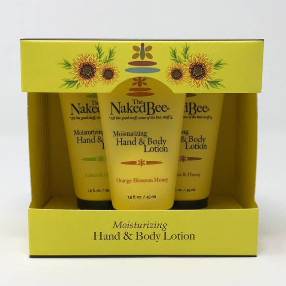 The Naked Bee Lotion Trio Gift Collection