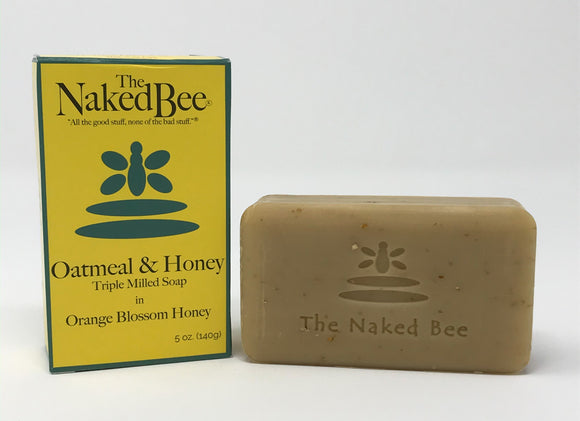 The Naked Bee Oatmeal & Honey Triple Mill Soap 5oz Orange Blossom Honey
