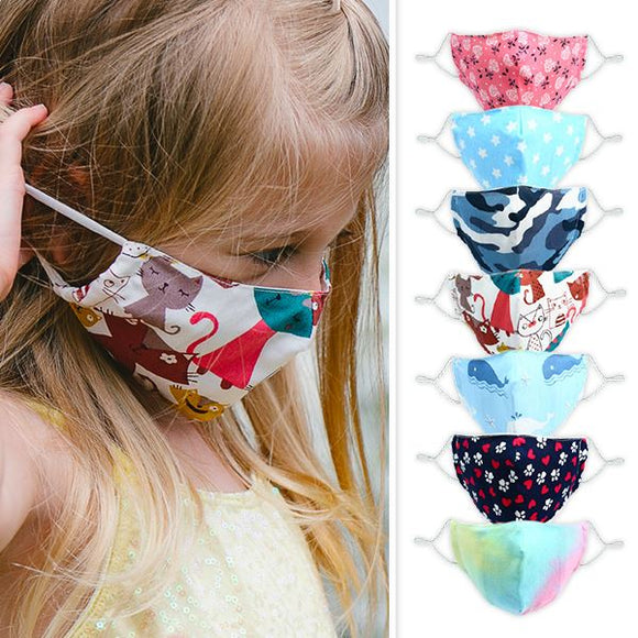Pavilion Cares Cotton Kids' Face Mask with 2 Filters