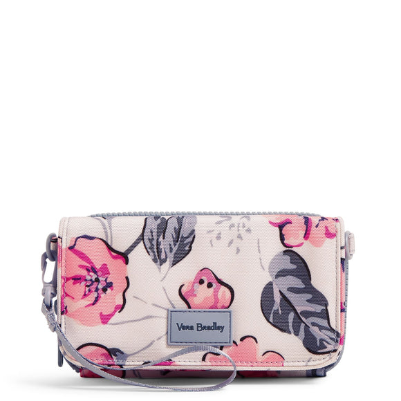 ReActive RFID Compact Crossbody Hummingbird Blooms