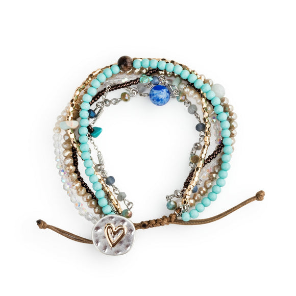 Turquoise Your Journey Beaded Love Bracelet