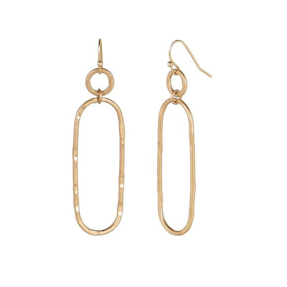 Geo Dangle Antique Gold Earrings