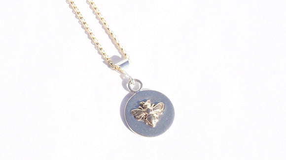 Bee Necklace Small 14K Gold