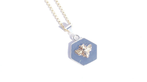 Hexagon Bee Necklace
