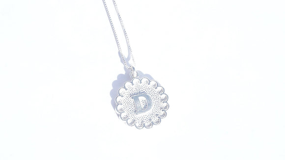 Halo Initial Necklace