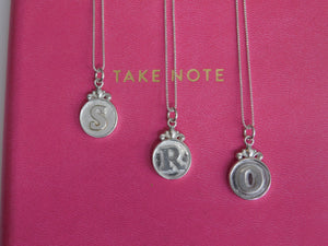 Tiara Silver Initial Necklace