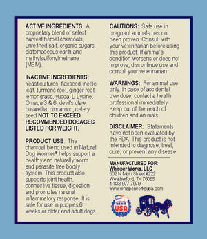 Natural Dog Wormer - Large (50-80+ Lbs)