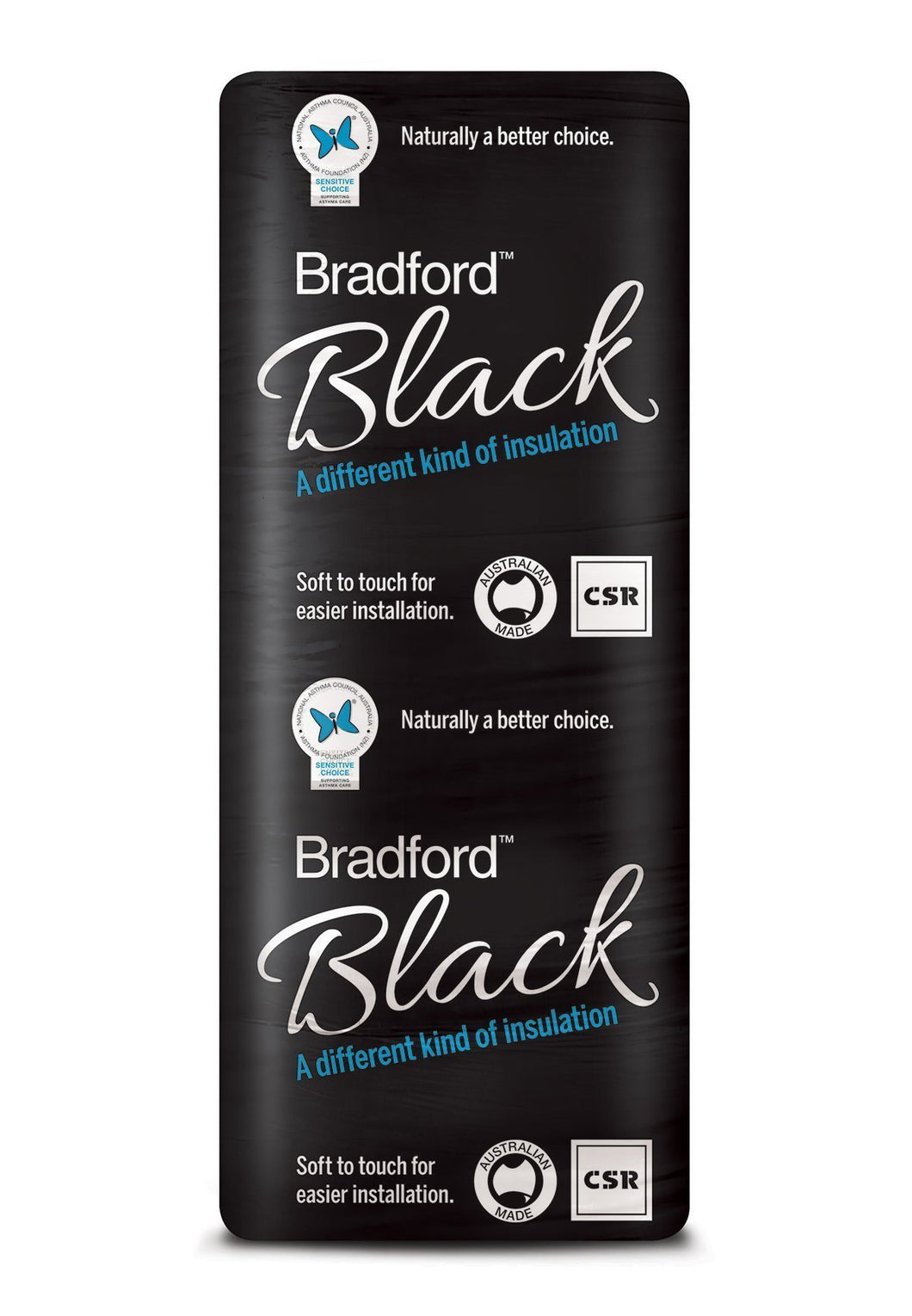 Bradford Black Wall Insulation Batts - R2.5 - 1160 x 570mm - 5.3m²/pack - Patnicar Insulation