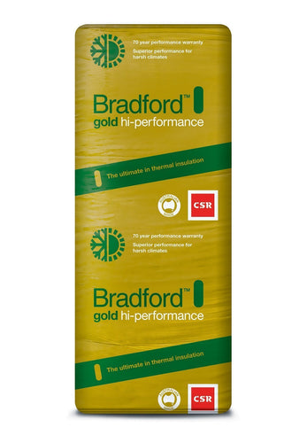 Bradford Gold Hi-Performance Ceiling Insulation Batts - R7.0 - 1160 x 580mm - 2.7m²/pack - Patnicar Insulation