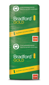 Bradford Gold Wall Insulation Batts - R2.0 - 1160 x 580mm - 12.1m²/pack - Patnicar Insulation