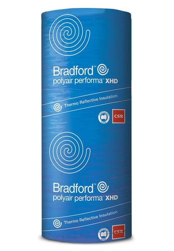 Bradford Polyair Performa 8.0 XHD Shed Insulation - 1350mm x 22.25m - 30m²/pack - Patnicar Insulation