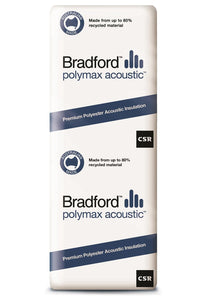 Bradford Polymax Acoustic Wall Insulation Batts - R2.5 - 1160 x 580mm - 5.4m²/pack - Patnicar Insulation