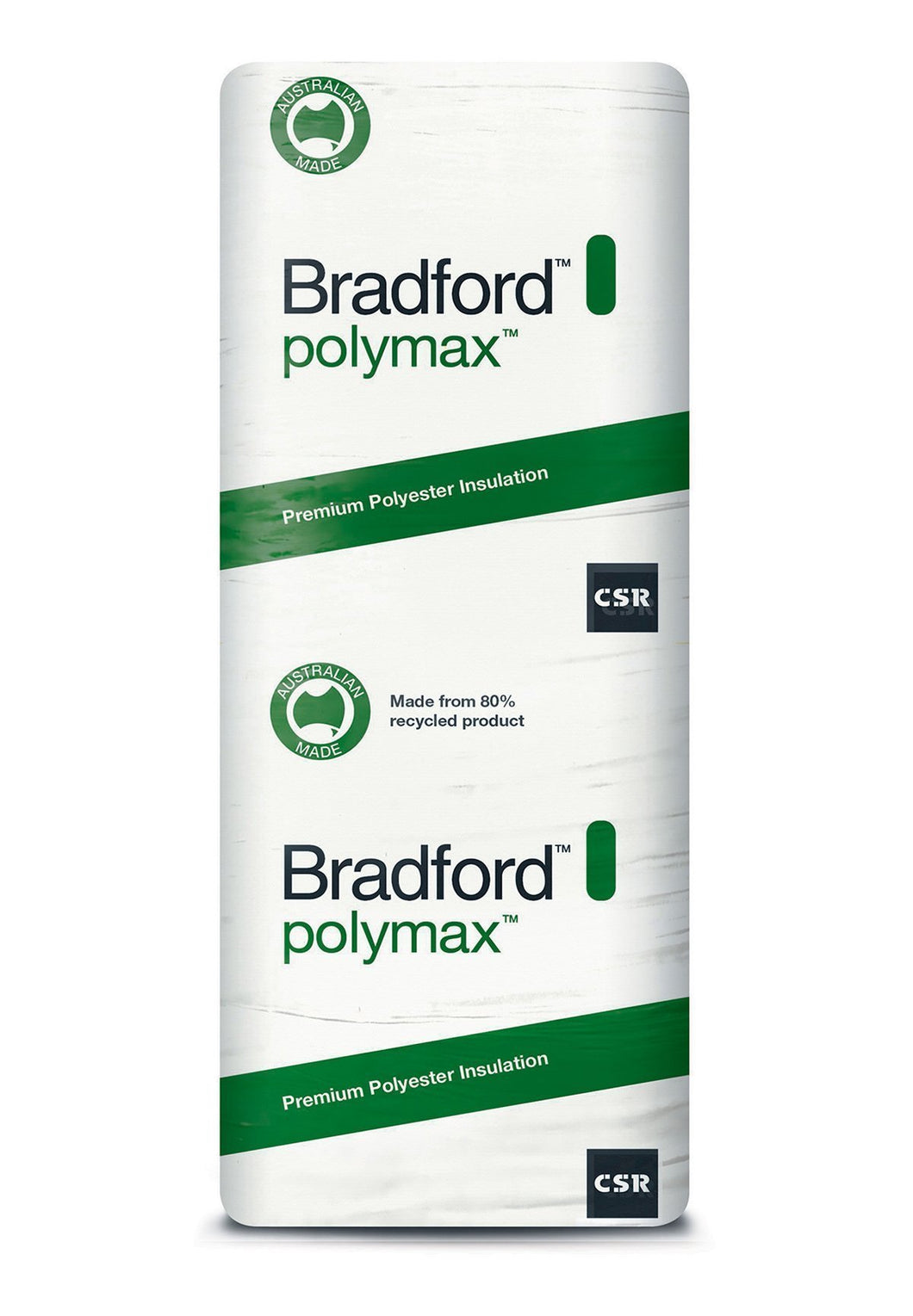 Bradford Polymax Ceiling Insulation Batts - R2.5 - 1160 x 580mm - 5.4m²/pack - Patnicar Insulation