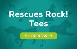 Rescue Animals Rock! Tees by Shaggy Chic Apparel
