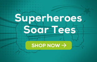 Superheroes Soar! Tees by Shaggy Chic Apparel