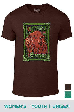 Bark Of The Irish (Celtic) Irish Setter Cotton T-shirt