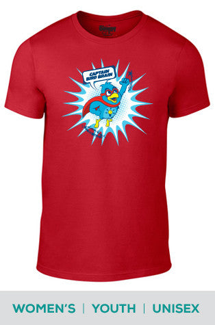 Captain Bird Brain Cotton T-shirt