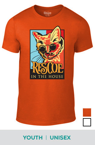 Rescue in the House (Cat) Cotton T-shirt for Unisex and Youth