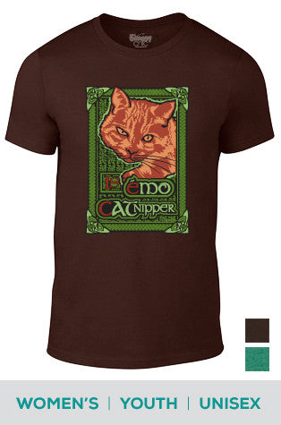 My Cat is a Nipper (Celtic) Cotton T-shirt