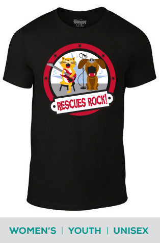 Rescues Rock Dog and Cat Cotton T-shirt