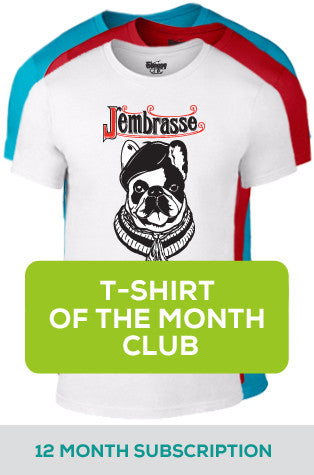 12 Month Subscription to T-shirt-of-the-Month Club